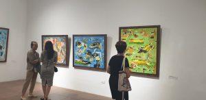 """Khai mạc triển lãm tranh và điêu khắc """"Người bay và giấc mơ siêu thực"""" của họa sĩ Đinh Phong"""