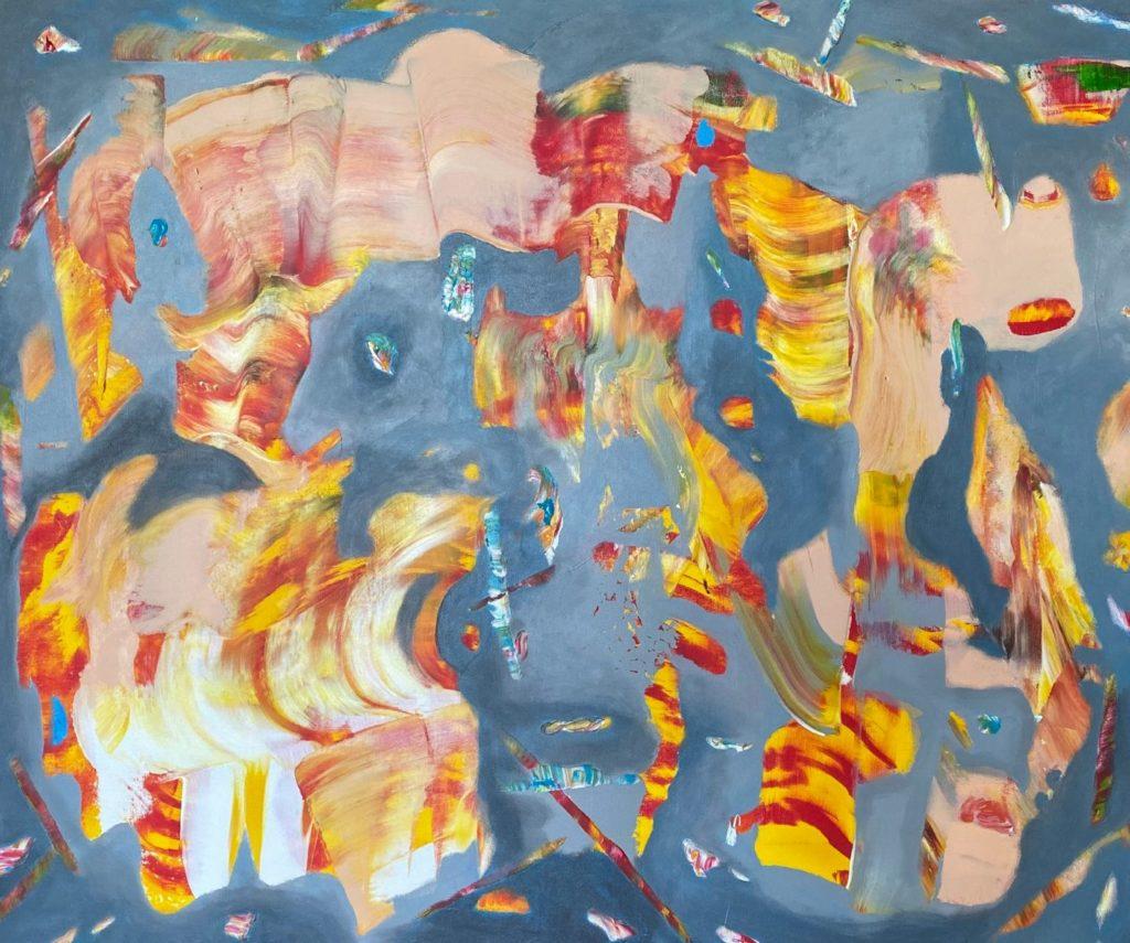 Fire - size 150 x 120 cm, acrylic on canvas